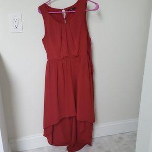 Doe & Rae Red high low dress